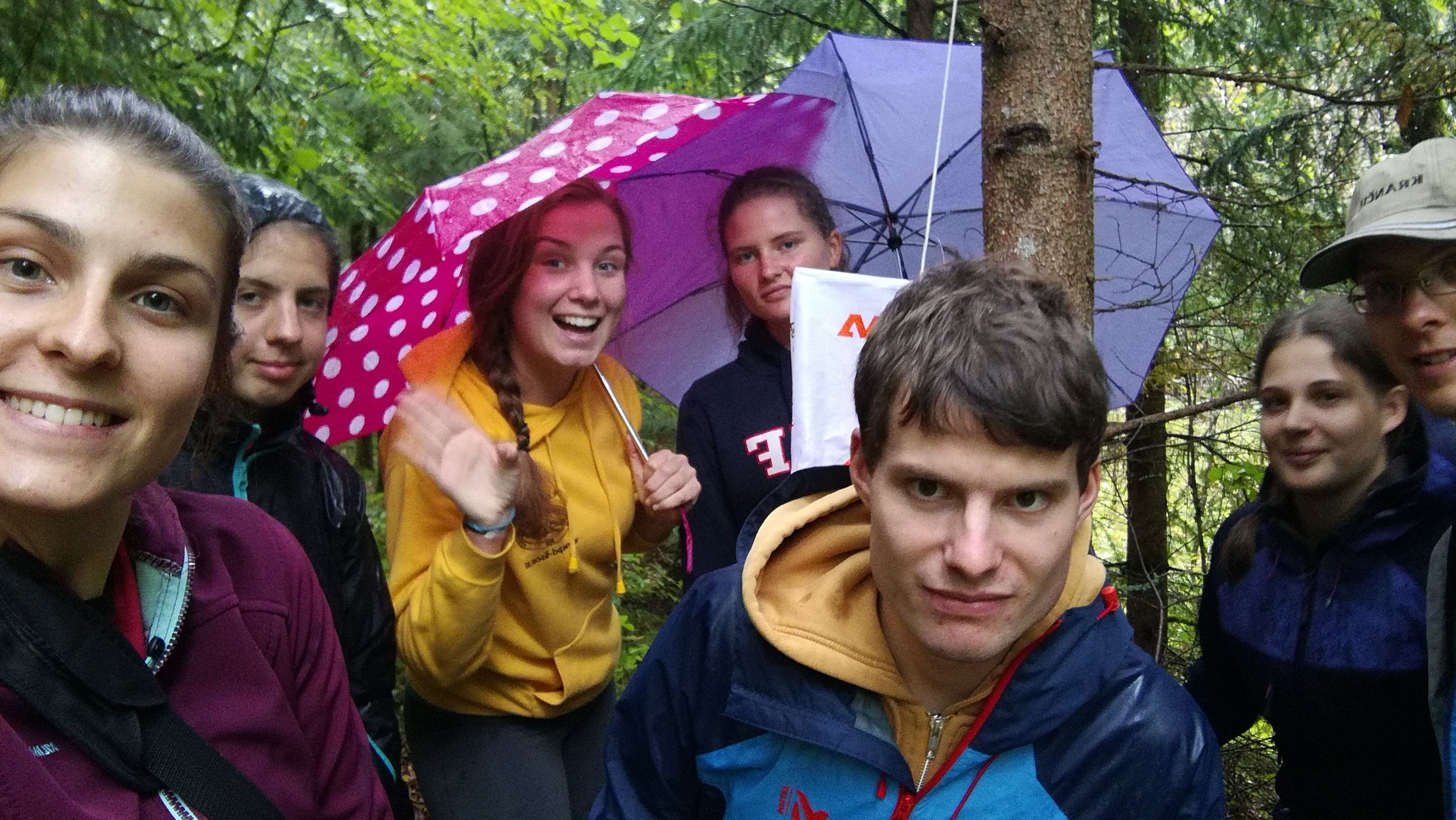 Orientacija v dežju, foto: Katja Štucin