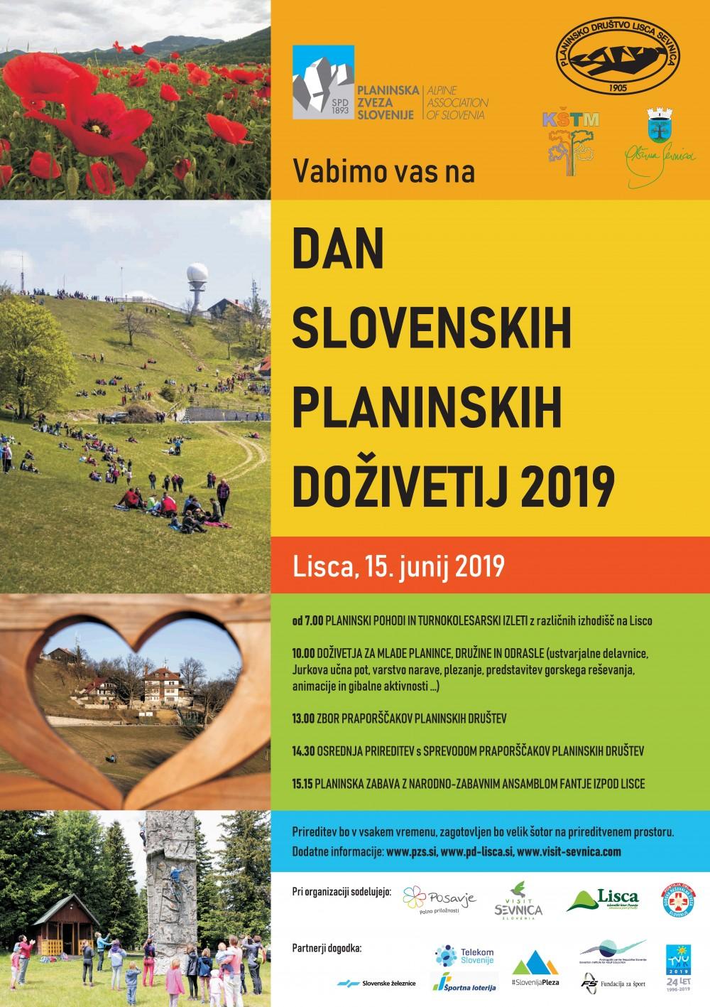 Dan slovenskih planinskih doživetij 2019